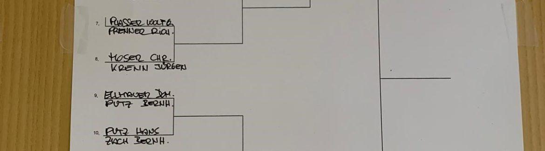 Auslosung Vereinsmeisterschaft 2020